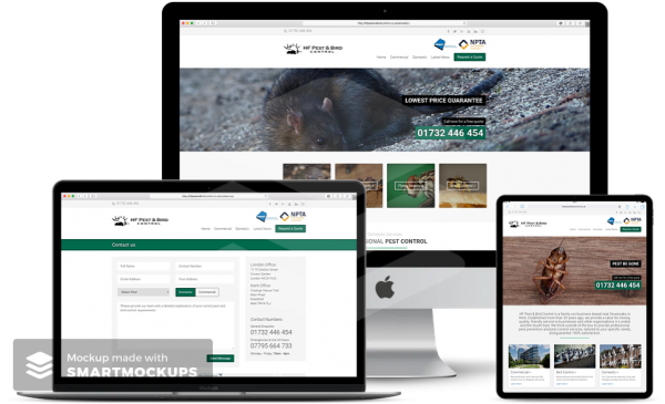 HF Pest & Bird Control Website Case Studies