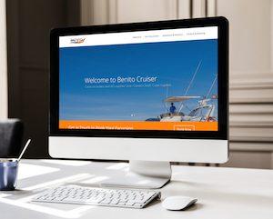 Boat Excursions Website on Desktop
