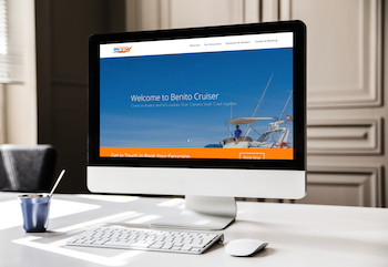 Boat Excursions Website on Desktop