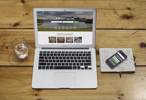 Vodski Homepage on Device
