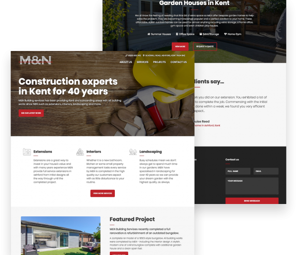 M&N Builders Responsive Website