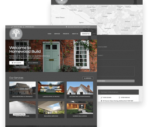 Portfolio for a Roofing Website in Kent