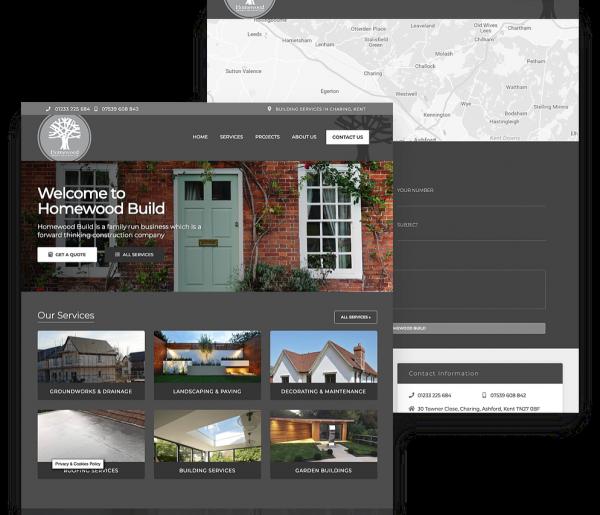 Homewood Homepage on Device