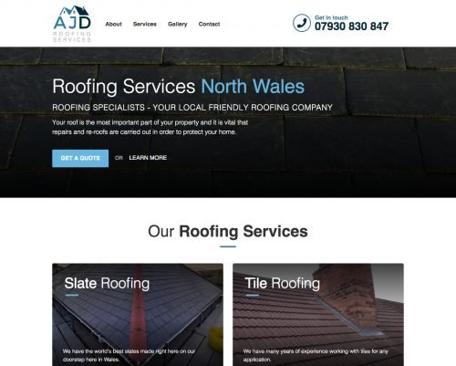 AJD Roofing Business Website