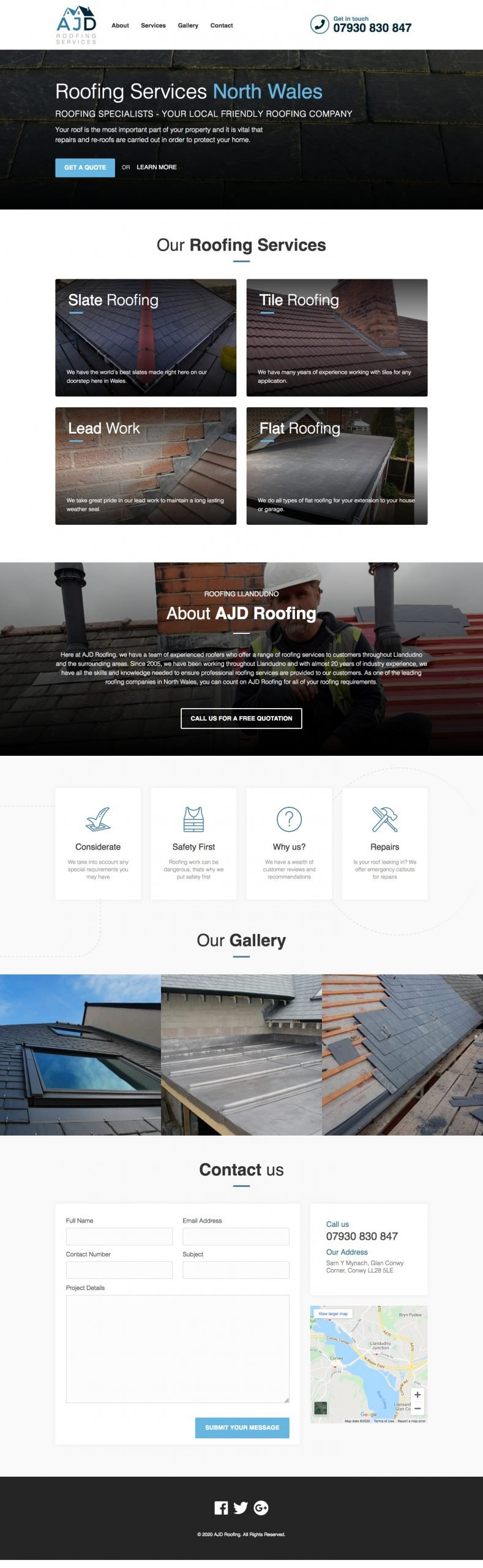 Full Page Website